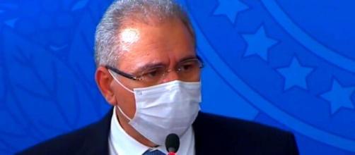 Ministro da Saúde, Marcelo Queiroga, falou nesta quarta-feira no Palácio do Planalto sobre a pandemia (Reprodução/Facebook)