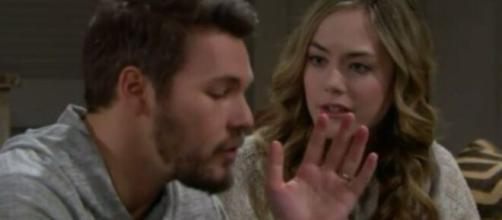 Beautiful, anticipazioni al 3 aprile: Hope vedrà Liam e Steffy che si baciano.