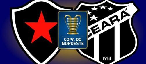 Botafogo-PB e Ceará se enfrentam pela Copa do Nordeste (Reprodução)