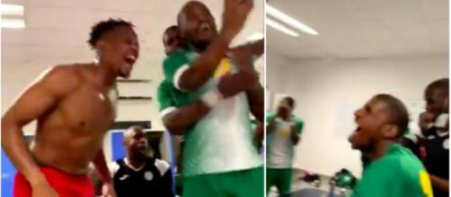 La joie des Comores dans leur vestiaire - Photo captures d'écran vidéo Twitter