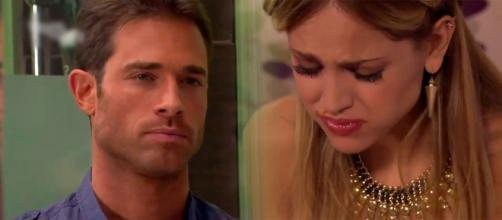 Nikki mente para a mãe e para Gusmão (Fotomontagem/Reprodução/Televisa)