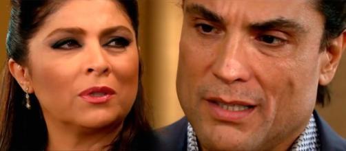 Osvaldo fica em choque com a confissão de Vitória (Fotomontagem/Reprodução/Televisa)