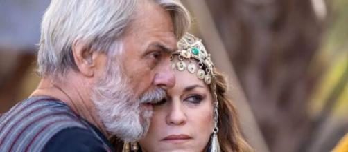 Abrão e Sarai em 'Gênesis'. (Foto: RecordTV).
