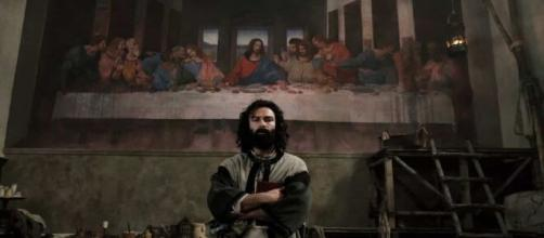 Aidan Turner in Leonardo, fiction di Rai Uno