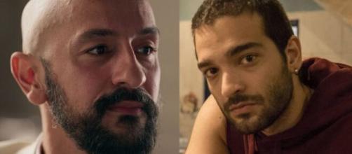 Álvaro e Sandro em 'Amor de Mãe' (Foto: Globo).