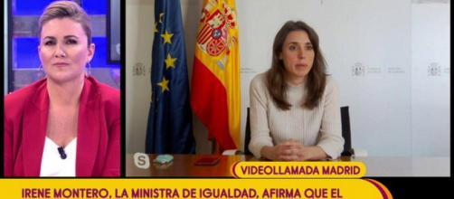 La ministra de Igualdad Irene Montero participó en 'Sálvame' (@telecincoes)