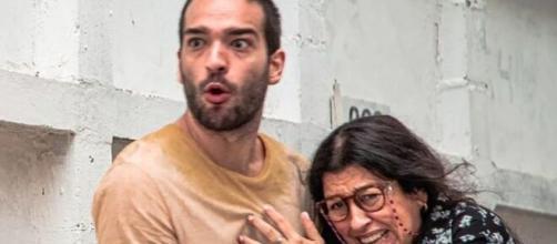 Sandro e Lurdes em 'Amor de Mãe' (Foto: Globo).