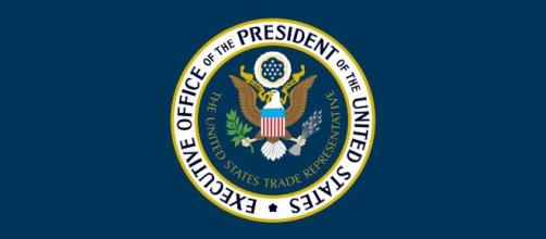The design of the flag of the U.S. trade representative (Image source: Fry1989/Wikimedia Commons)