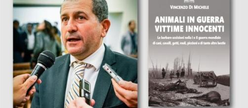 """""""Animali in guerra, vittime innocenti"""", libro di Vincenzo Di Michele."""