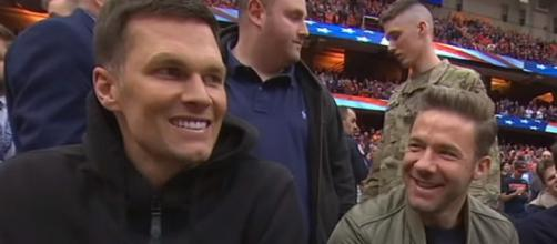 Brady and Edelman played together with the Patriots for 10 years (Image source: ESPN/YouTube)