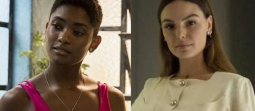 Marina e Betina em 'Amor de Mãe' (Fotomontagem/Reprodução/TV Globo)