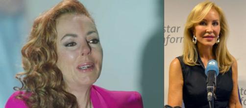 Carmen Lomana critica el espectáculo truculento de lloriqueos del documental de Rocío Carrasco. (Imágenes de Telecinco y La Cope)