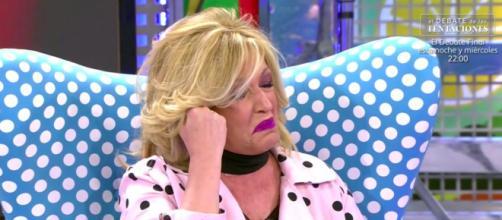 Lydia Lozano llora la muerte de su hermano en Sálvame Fuente: 'Sálvame' (Telecinco)