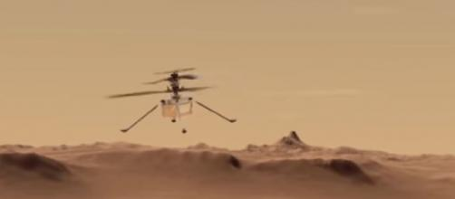 The first images of helicopter Ingenuity on Mars (Image source: TerkRecoms – Tech TV/YouTube)