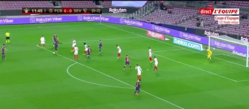 Le magnifique but d'Ousmane Dembélé avec le FC Barcelone - Photo capture d'écran vidéo Twitter l'Equipe