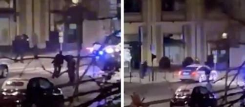 Les Policiers bordelais on été filmés lors d'une arrestation musclée - Photo montage et captures