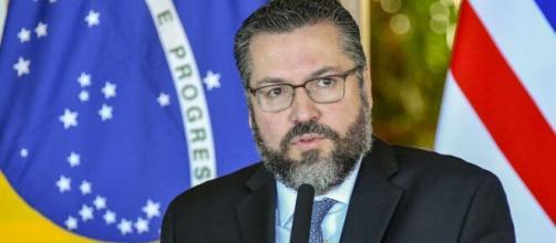 Ernesto Araújo divulga sua carta de demissão (Reprodução/U.S. Department of State)