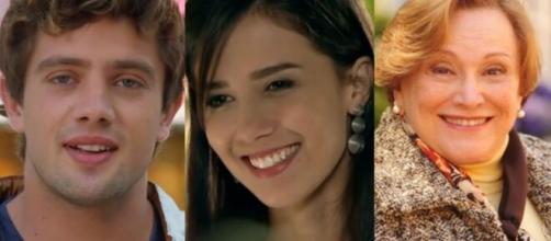 Rodrigo, Manuela e Iná em 'A Vida da Gente'. (Foto: Globo)