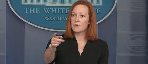 White House Press Secretary Jen Psaki said Donald Trump's outlook on space was not being rejected (Image Source: The White House/YouTube)