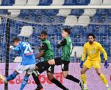 Sassuolo-Napoli 3-3:il gol di Zielinski.