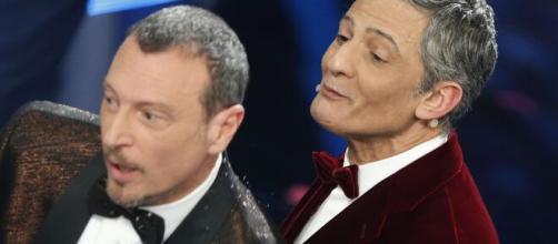 Amadeus e Fiorello, calano gli ascolti di Sanremo 2021.
