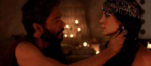 Terá e Nadi em 'Gênesis' (Reprodução/Record TV)