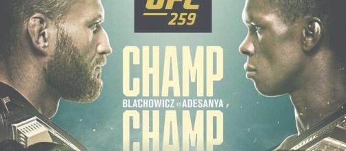 UFC 259: Blachowicz vs Adesanya, domenica 7 marzo in streaming su Dazn.