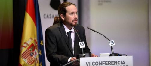 El partido Podemos de Pablo Iglesias ha contado con el apoyo de BNG, Más País, entre otros para registrar la comisión (Twitter @Pablo Iglesias)