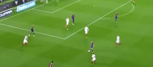 Le Barça a déroulé une action magistrale face au FC Séville (capture).