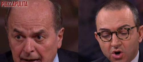 Lo scontro tra Bersani e De Angelis a Piazzapulita.