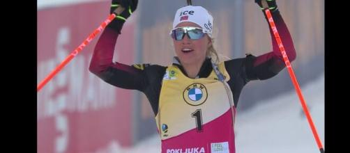 La vincitrice norvegese Tiril Echkoff