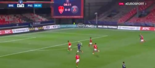 Mbappé en grande forme avant le match contre le FC Barcelone - Photo capture d'écran vidéo Eurosport