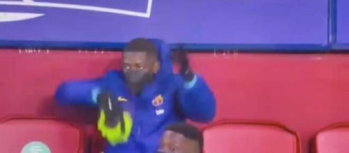 Ousmane Dembélé a refait des siennes avec Jordi Alba ce samedi. (montage)