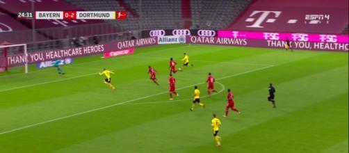Thomas Meunier se fait détruire après sa performance contre le Bayern Munich - Photo capture d'écran vidéo Bein Sport