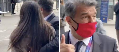 Barça: Juan Laporta dézingué après un geste déplacé sur une adolescente (Vidéo). Capture d'écran
