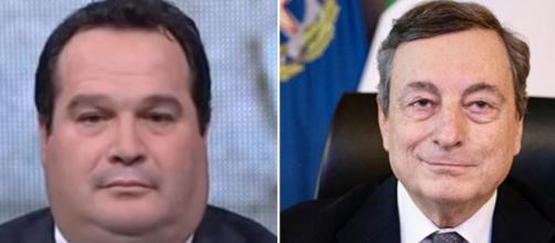 Claudio Durigon e Mario Draghi.