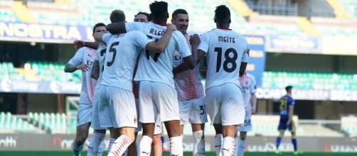 Il Milan supera l'Hellas Verona - foto di acmilan.com