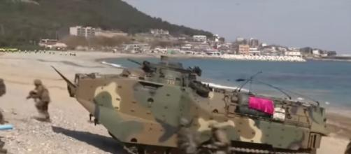 Scaled down South Korea and the United States military drills (Image source: WION YouTube)