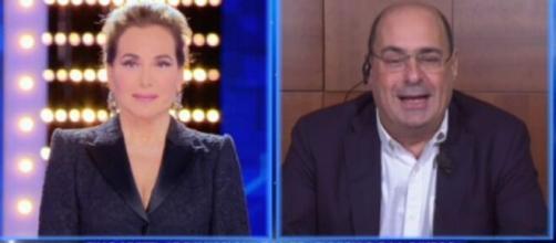 Zingaretti spiega i motivi delle sue dimissioni a Live-Non è la d'Urso.