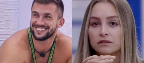 Arthur e Carla no 'BBB 21' (Fotomontagem/Reprodução/TV Globo)