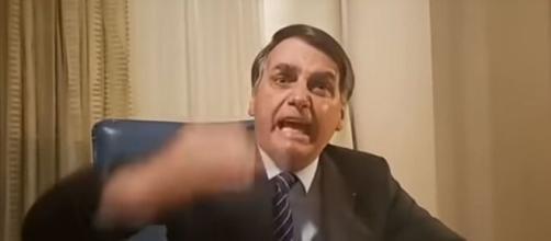 Bolsonaro critica o PT (Reprodução)