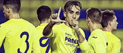 Franco Acosta cuando jugaba en el Villarreal (Twitter @MarcosMauro5)