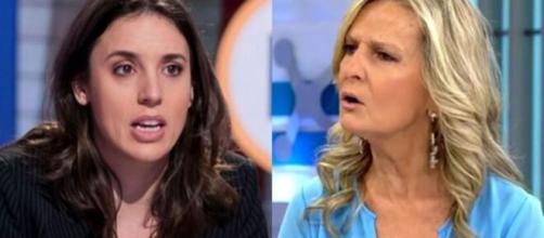 Isabel San Sebastián no se corta y lanza una serie de insultos machistas a Irene Montero (Twitter @lopezbarrancoj4)