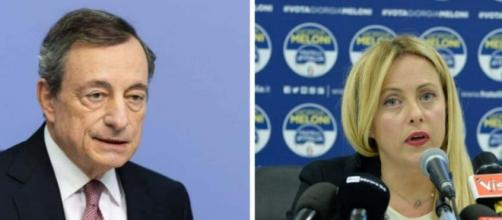 Giorgia Meloni e il 'Pesce d'aprile' di Draghi agli italiani.