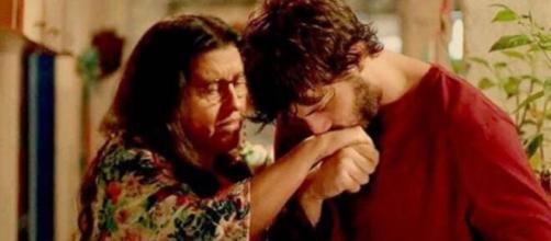 Lurdes e Domênico em 'Amor de Mãe' (Foto: Globo).