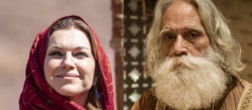 Sarai e Abraão em 'Gênesis' (Foto: RecordTV)