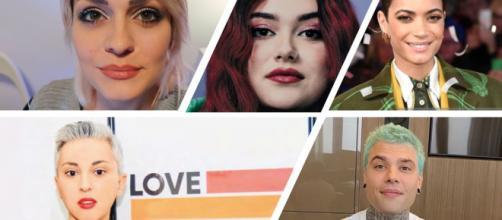 Gli artisti e le Influencer contro Simone Pillon e l'omotransfobia: Alice Venturi, Muriel De Gennaro, Elodie, Cathy La Torre e Fedez.