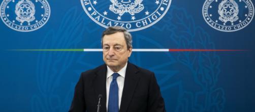 Mario Draghi parla di vaccinazioni.