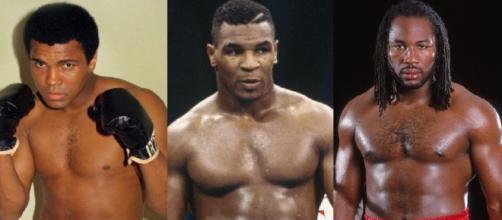 Muhammad Ali, Mike Tyson e Lennox Lewis.