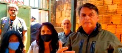 Presidente Bolsonaro em crítica ao lockdown diz que Brasil não irá virar uma Venezuela Foto: frame Facebook de Jair Bolsonaro